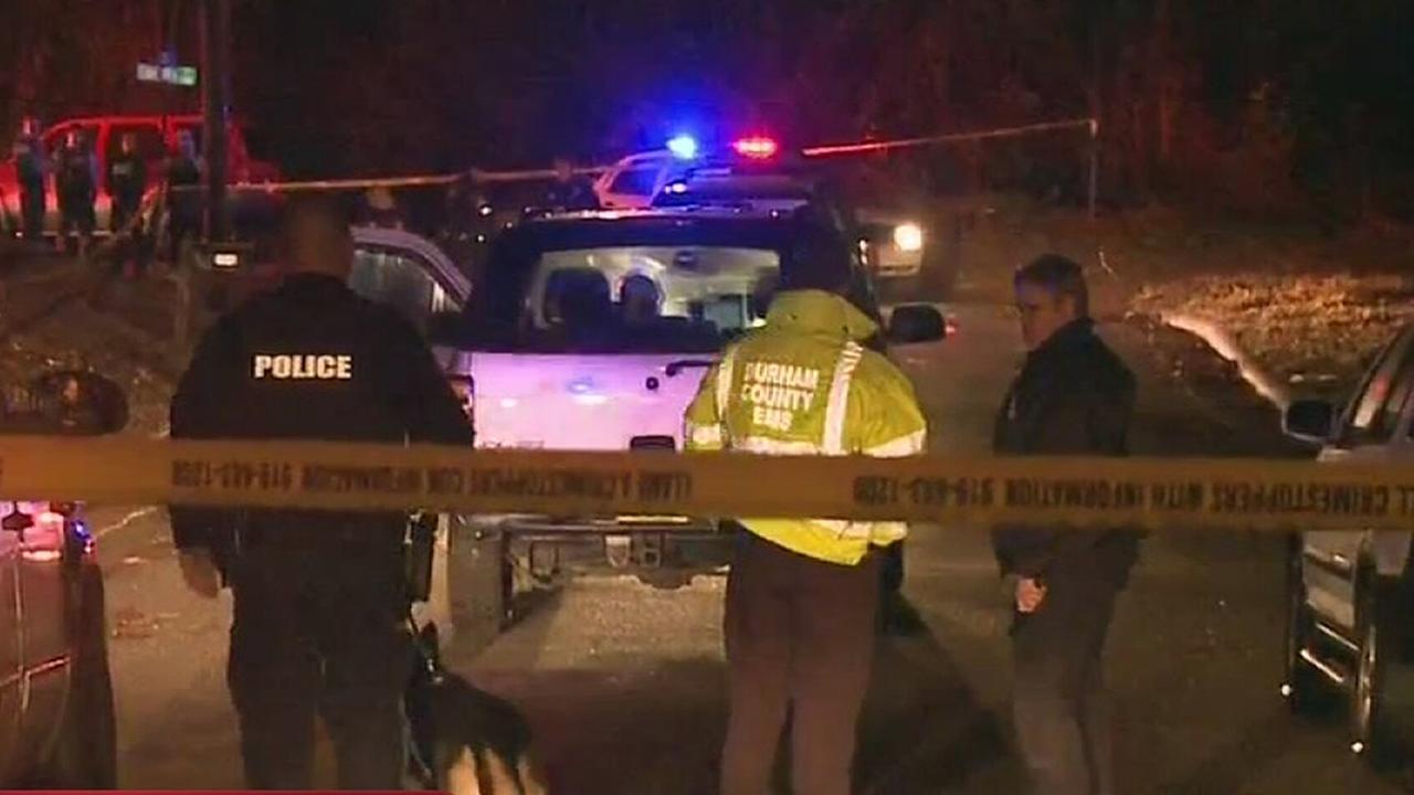 Police investigate a Durham murder