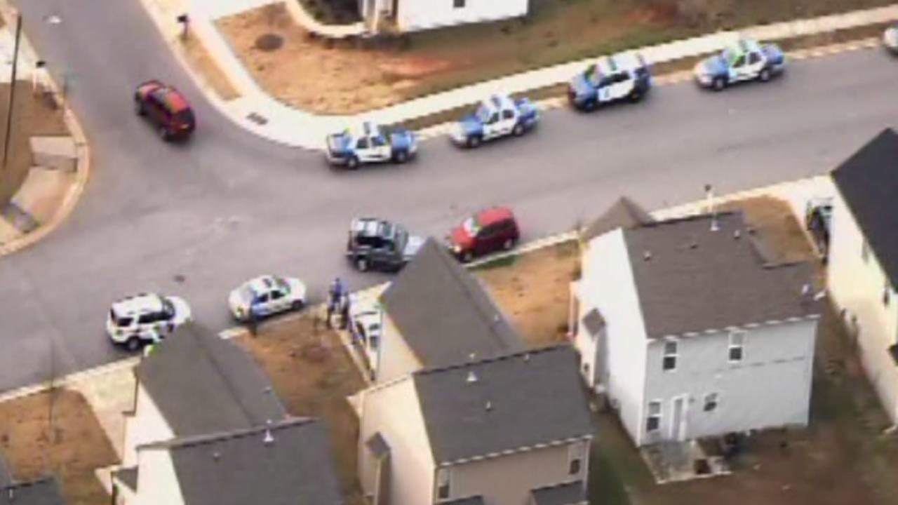 Police investigate on Idlewood Village Drive in south Raleigh.