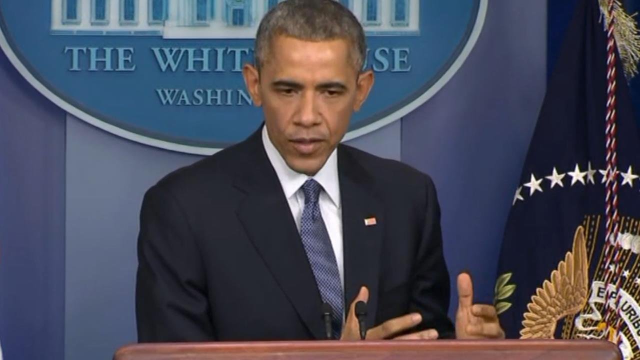 President Obama holds his end-of-year news conference.