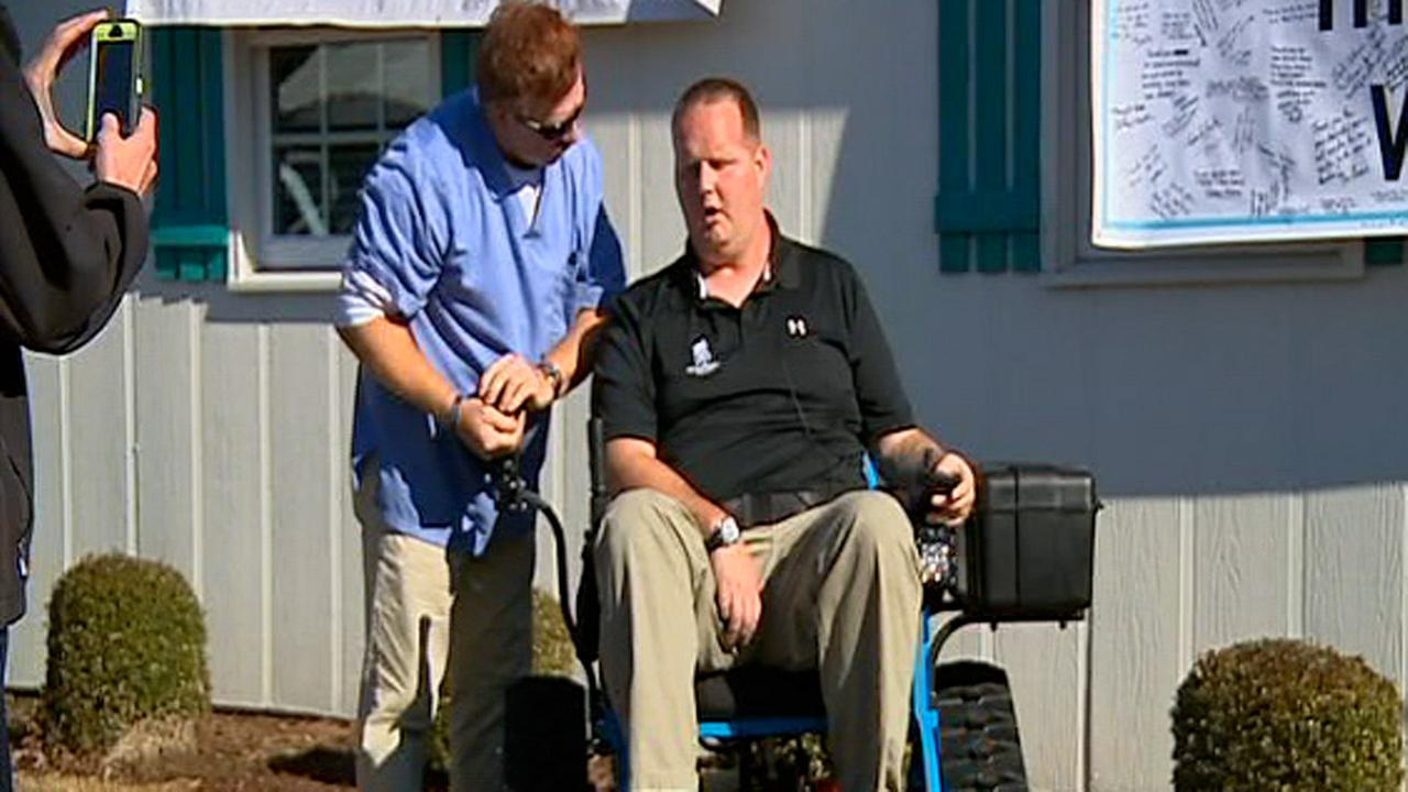 William Stewart new wheelchair