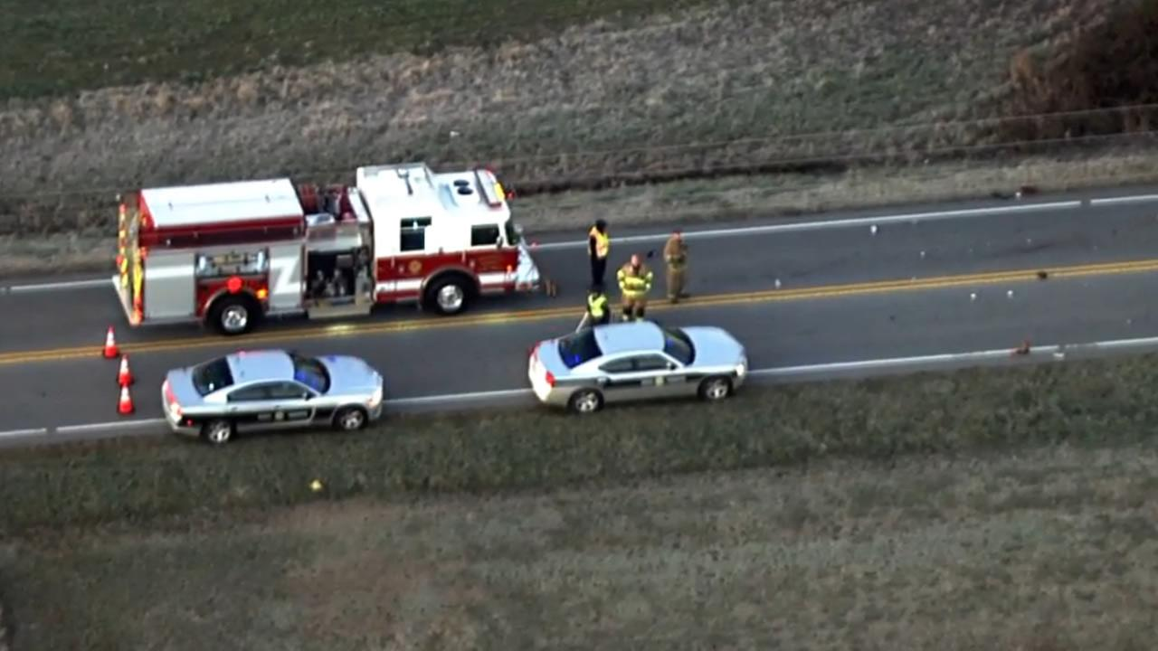 The North Carolina Highway Patrol investigates Friday morning.