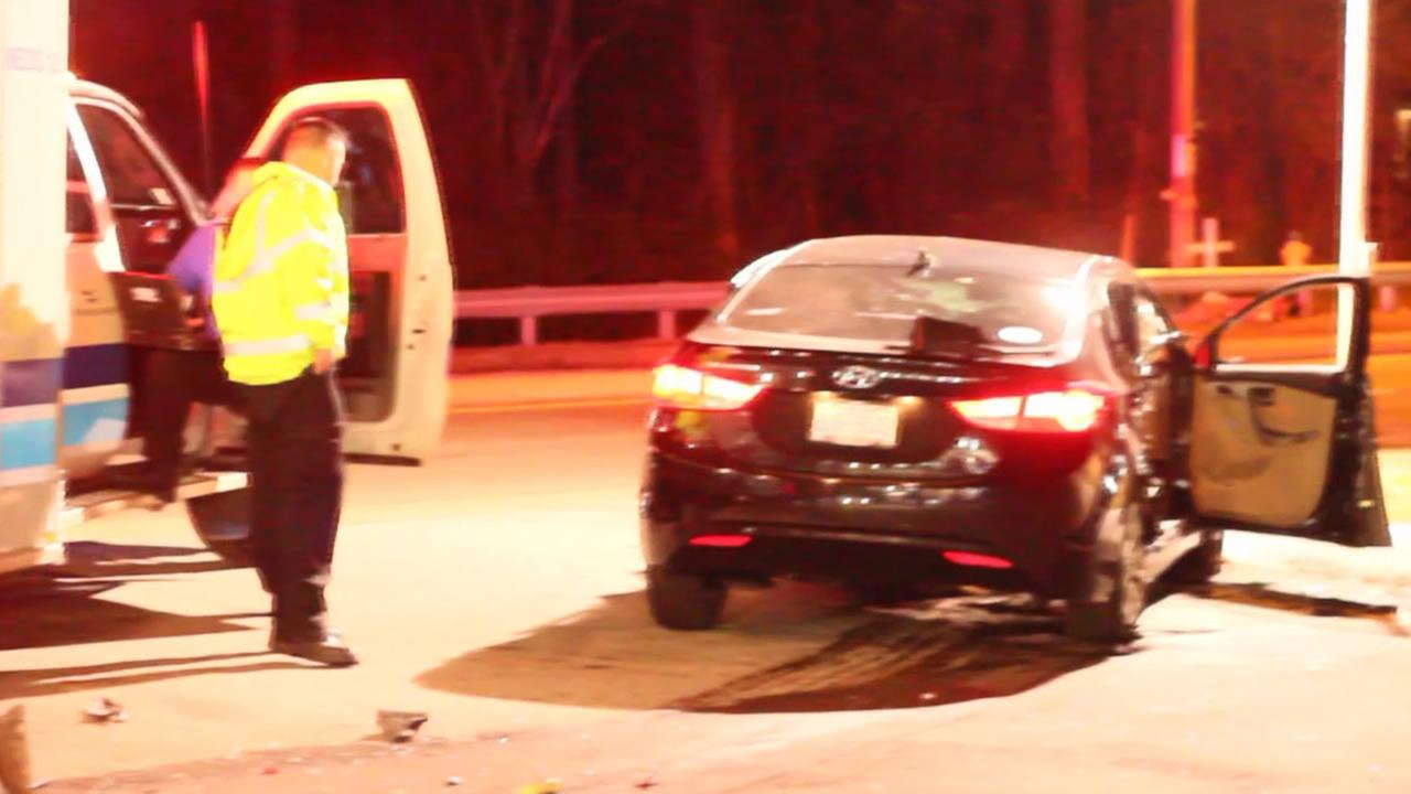Police in Fayetteville are investigating a crash late Sunday night at a gas station.
