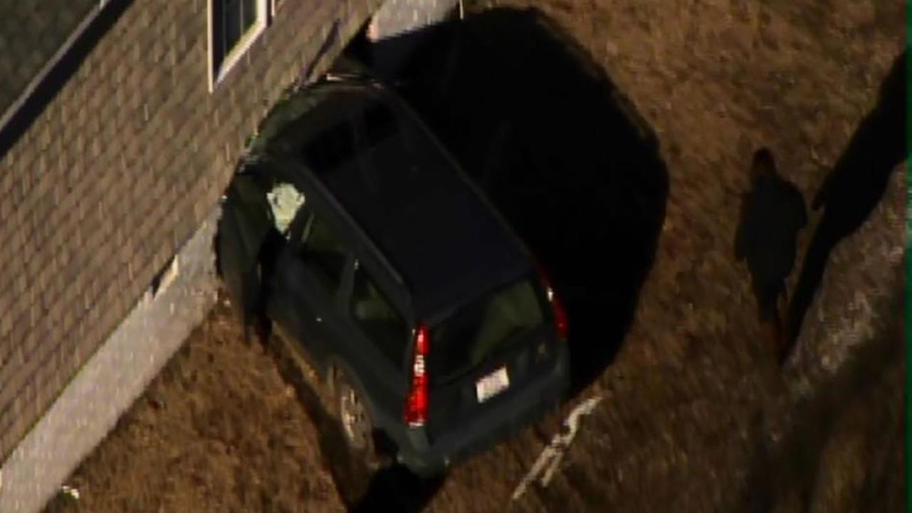 Car into home in southern Wake County