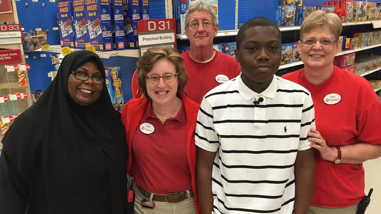 Teen reunited with Target workers who helped him