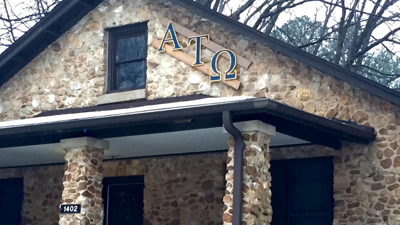 The NC State Alpha Tau Omega fraternity house.
