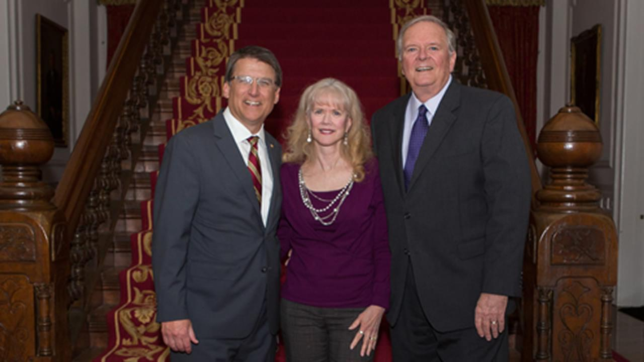 Larry Stogner and wife Bobbi were invited to the mansion for dinner with Governor Pat McCrory.