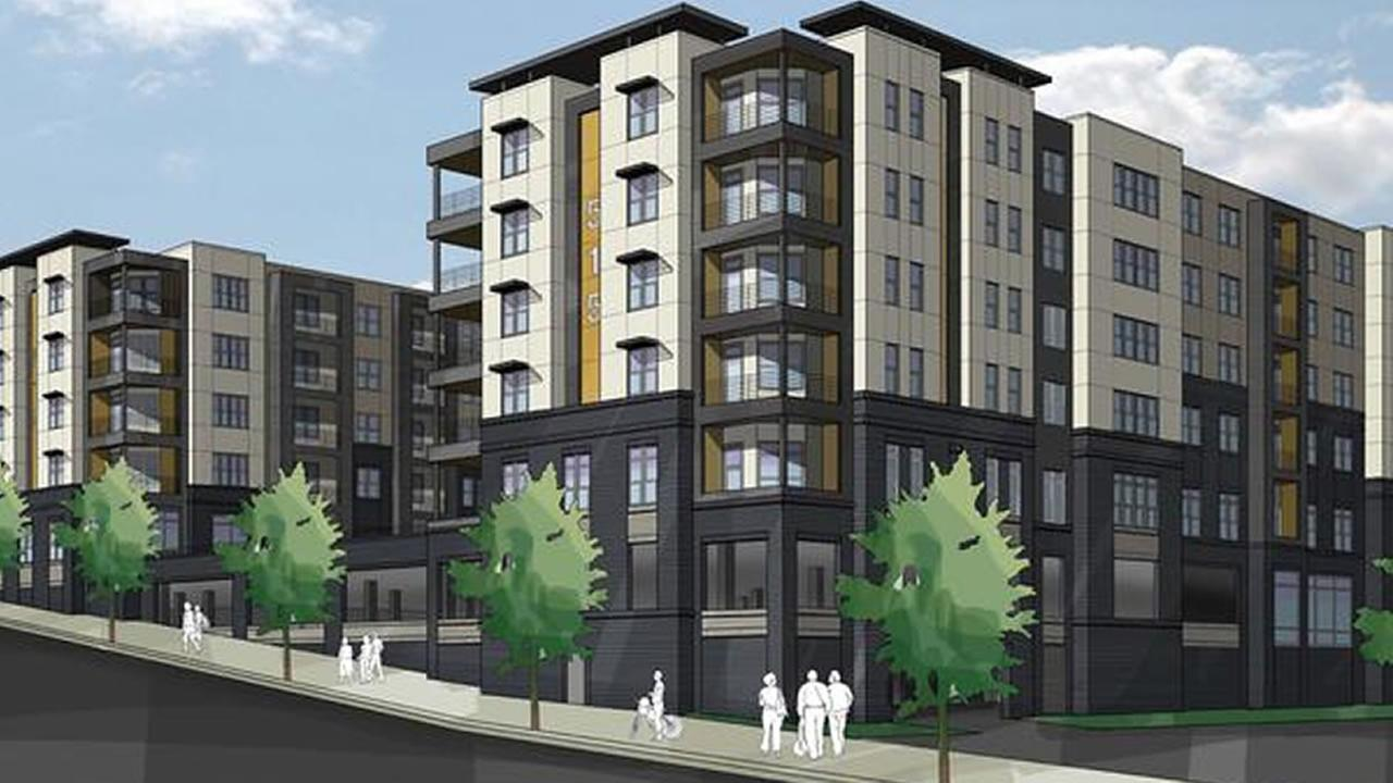 Proposed apartments on Wade Avenue