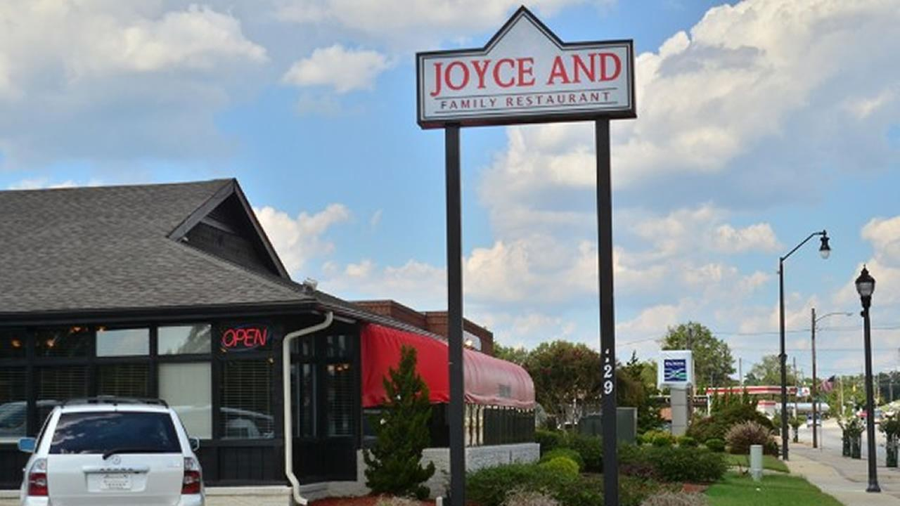 Joyce and Family Restaurant sign