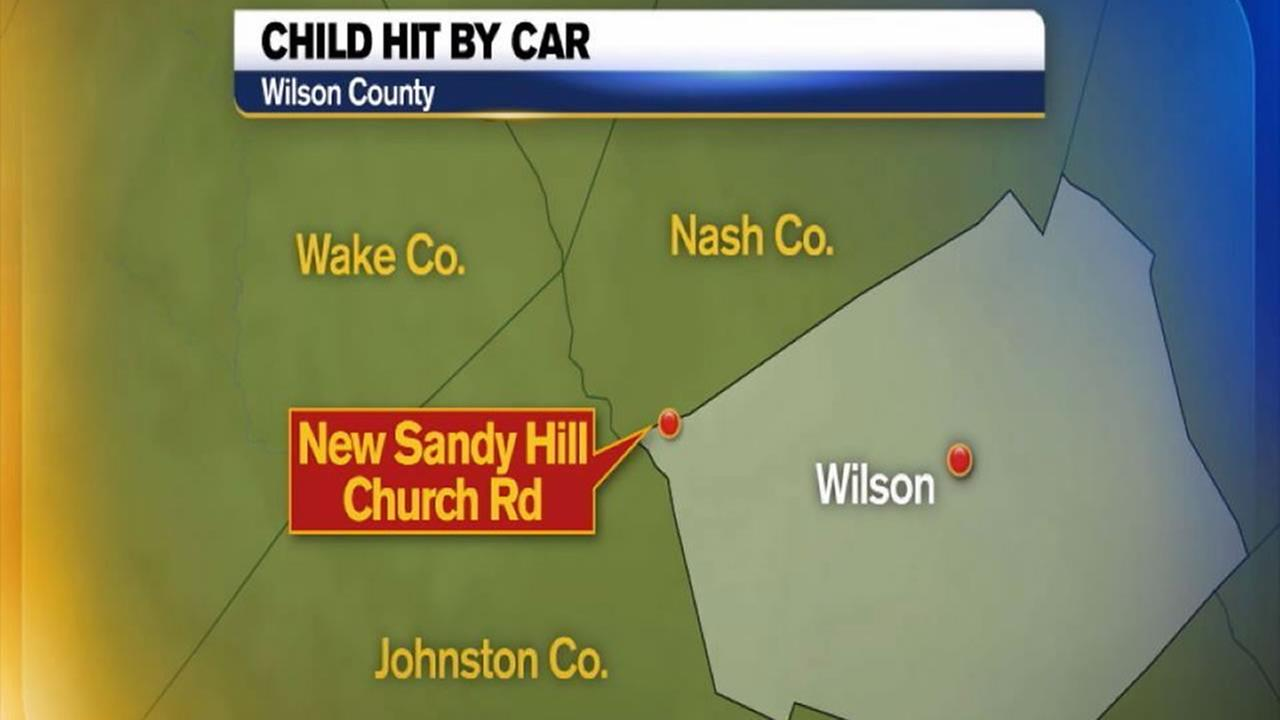 Child struck by car on New Sandy Hill Church Road