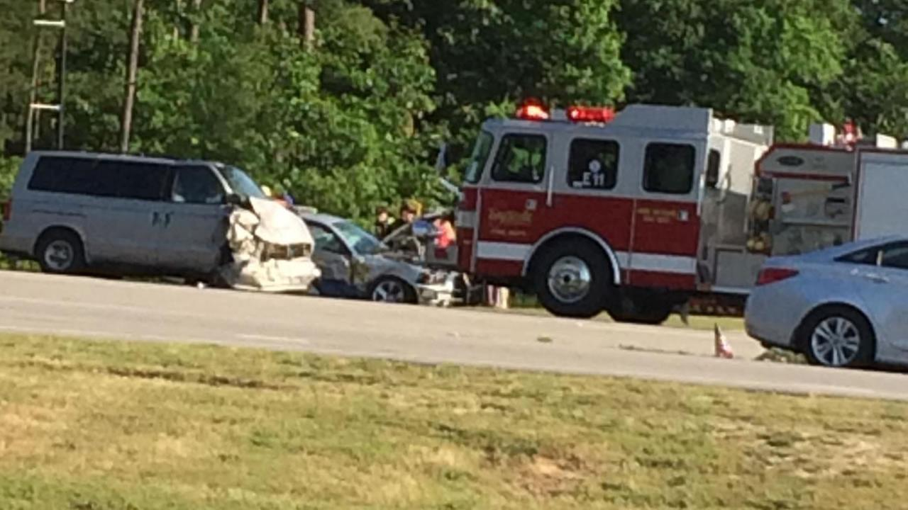 A Hoke County deputy suffered serious injuries in a crash in Fayetteville Friday morning.