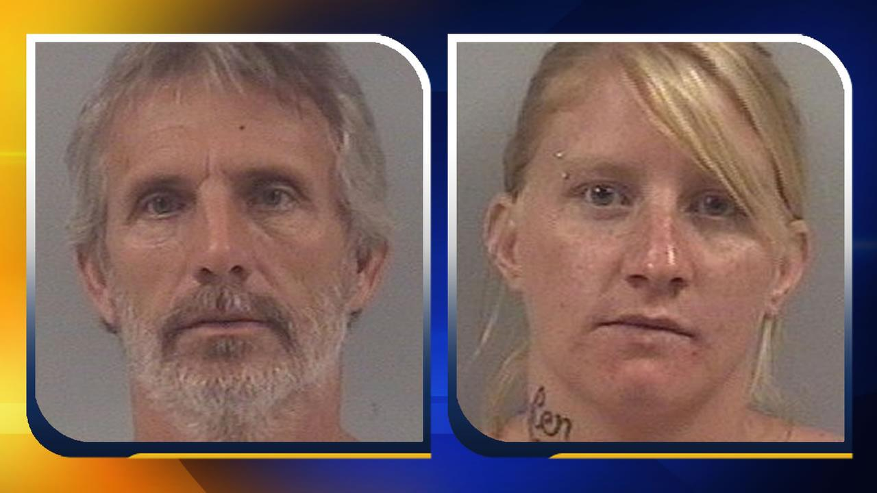 Rufus Charles Futch and Alison Louise Hill were arrested after two babies tested positive for meth.