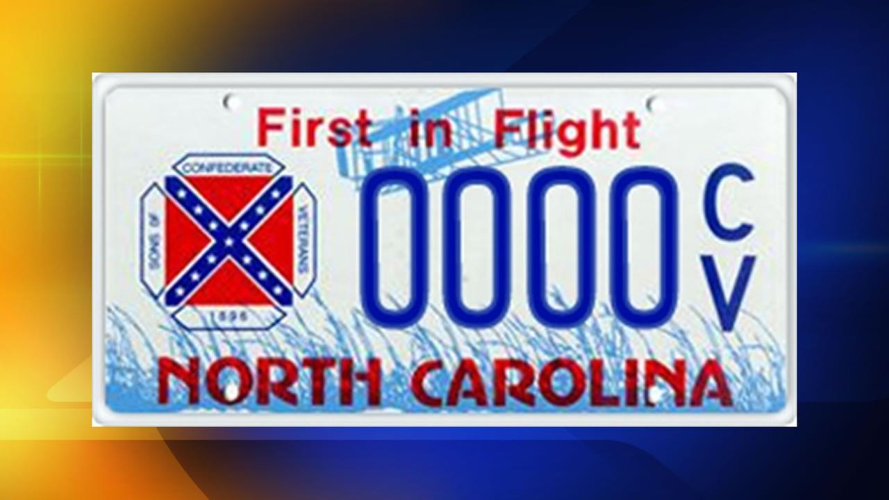 North Carolina Sons of Confederate Veterans license plate.