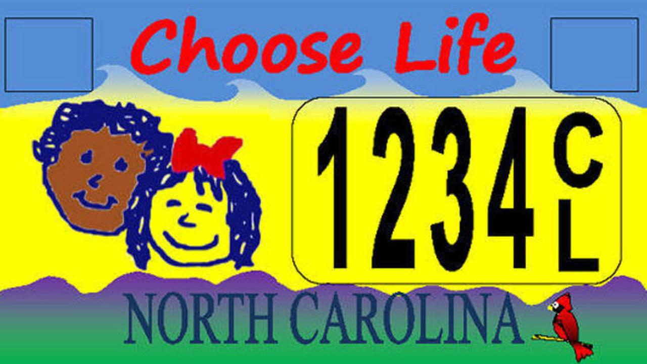 North Carolinas Choose Life license plate.
