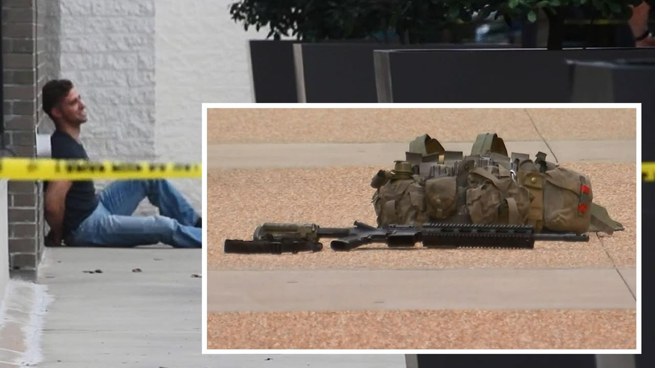 25-year-old Bryan Scott Wolfinger was arrested after showing up at Cross Creek Mall with an AR-15 rifle and a military vest.