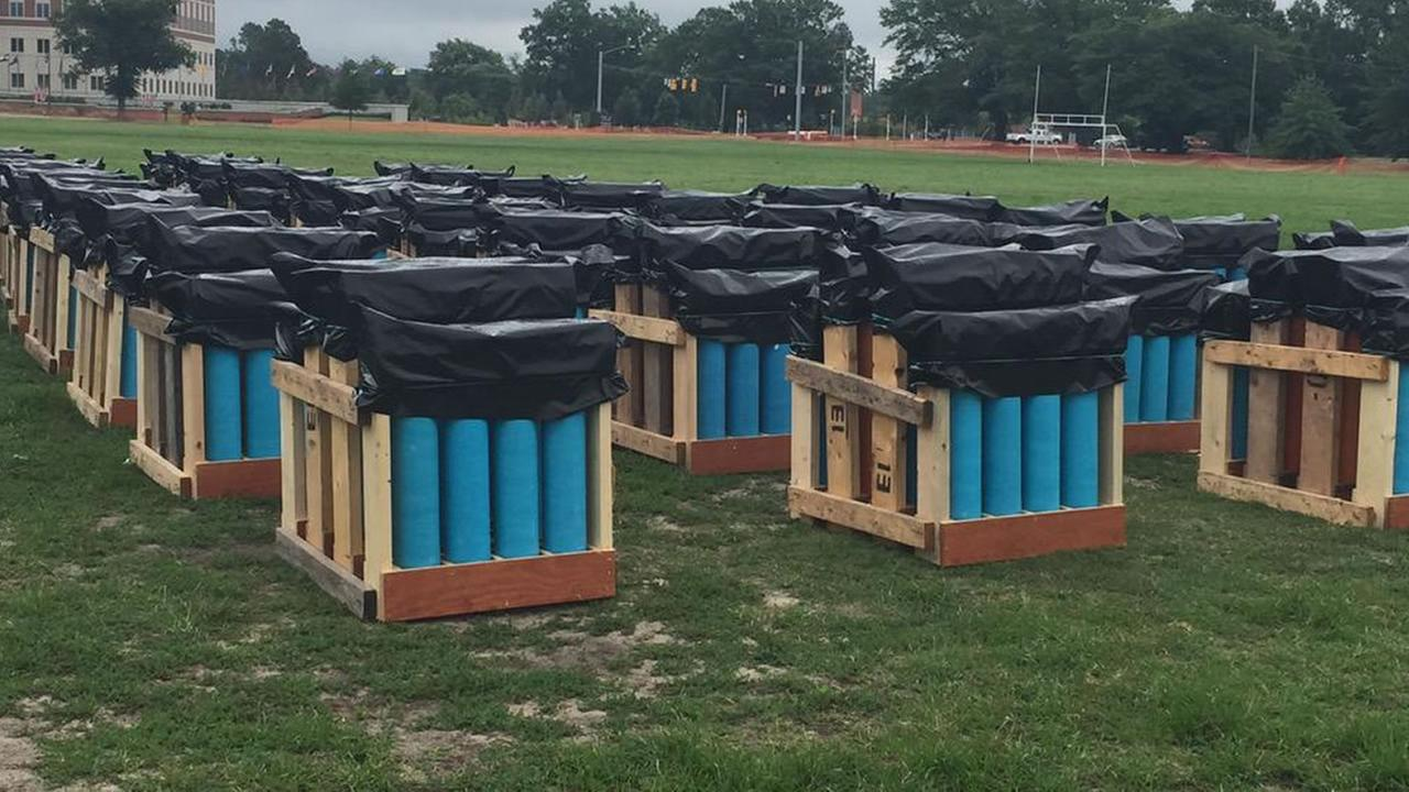 Tennessee-based PyroShows is setting off 1,000 shells in a 20-25 minute fireworks display, orchestrated to music.
