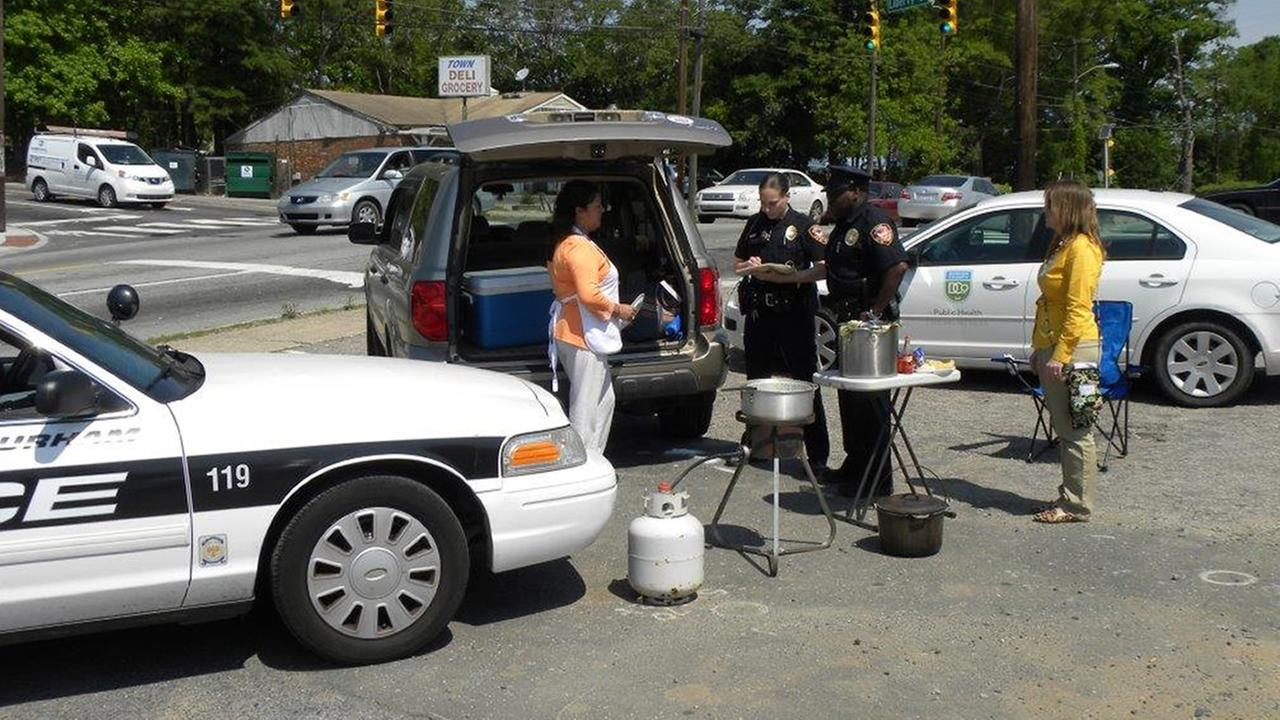 Durham County Public Health Department works with police to stop illegal street food sales.