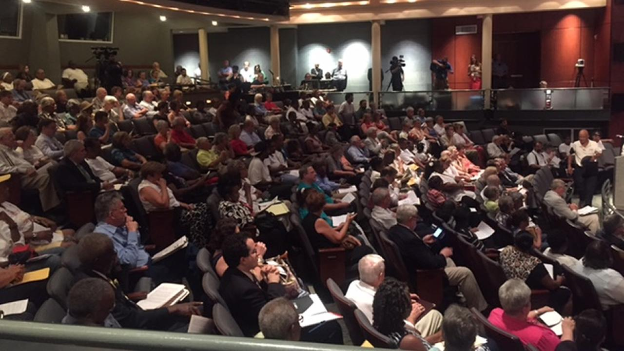 Raleigh rezoning meeting crowd