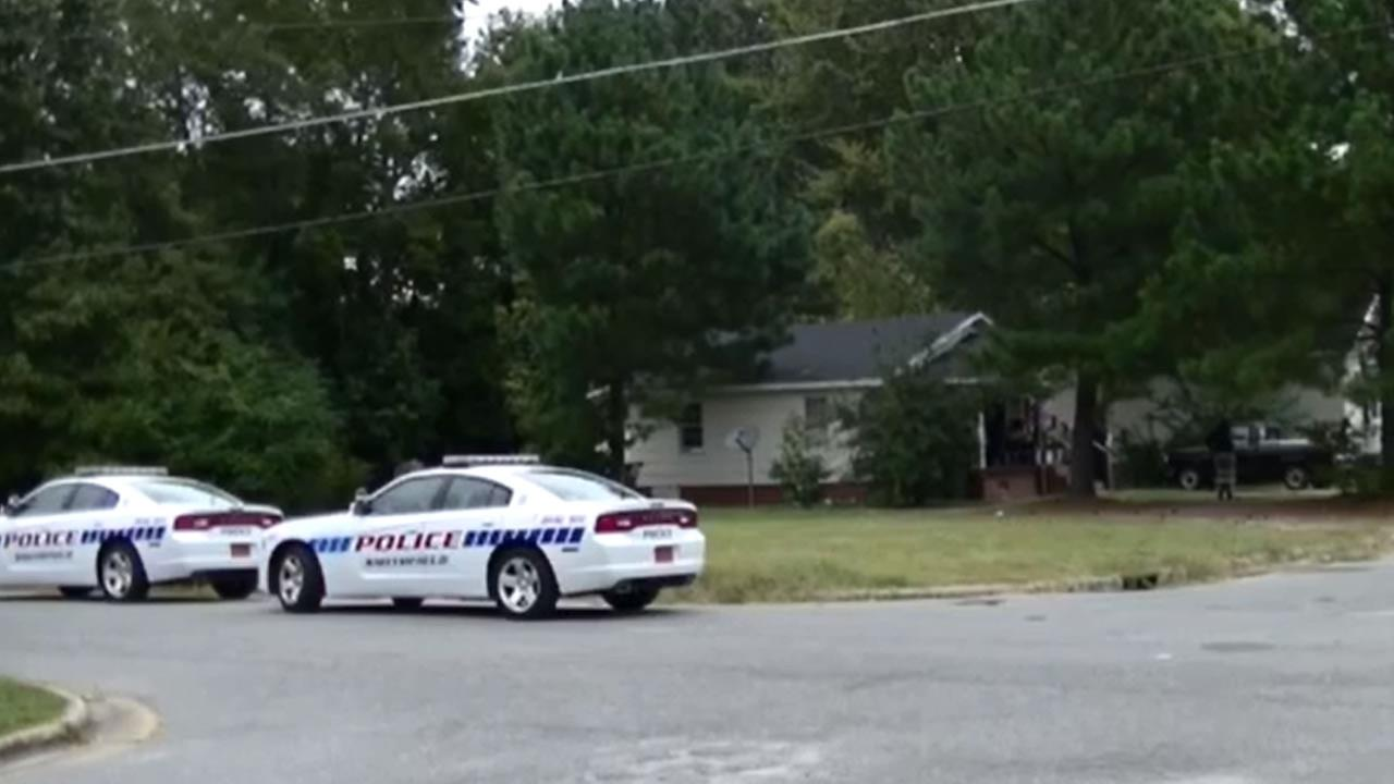 Police investigate in Smithfield.