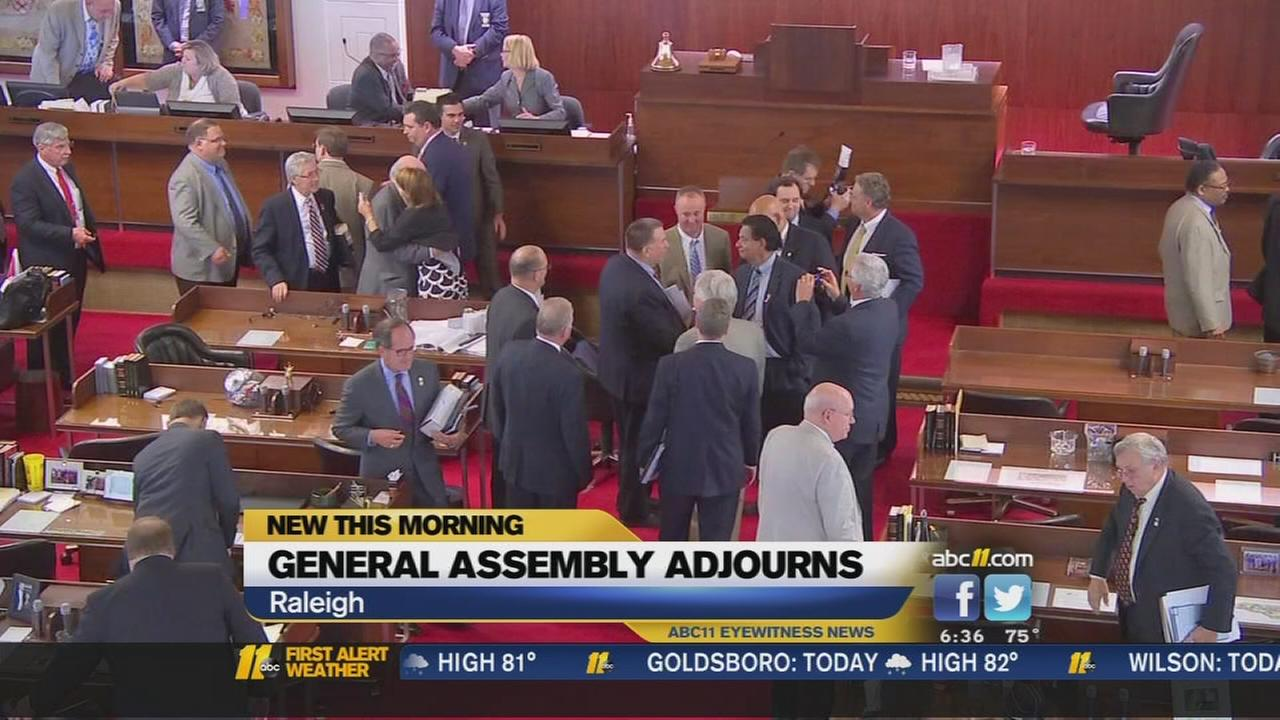 General Assembly adjourns
