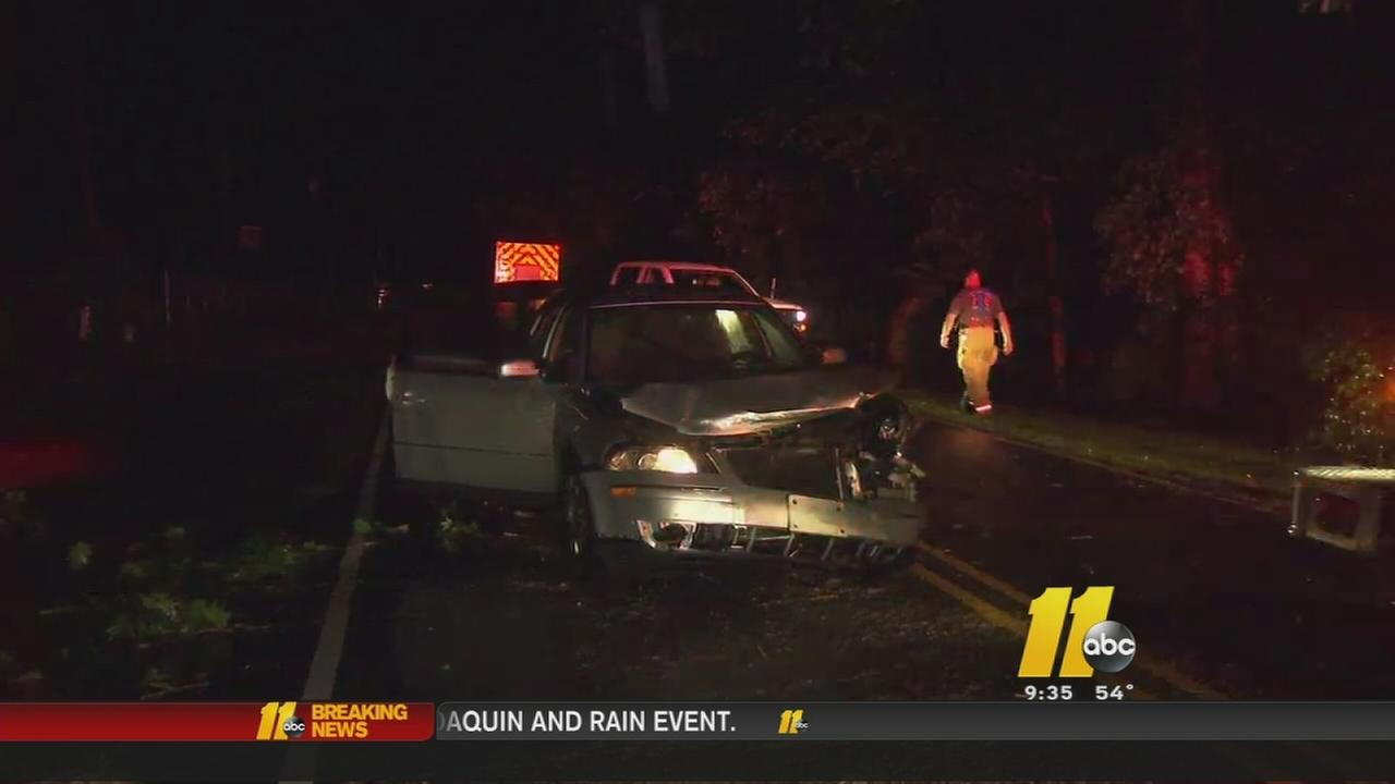 Car slams into tree