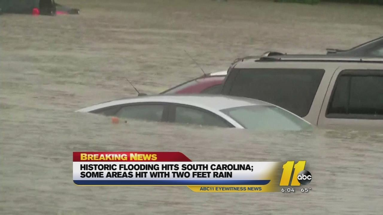 Historic flooding hits NC