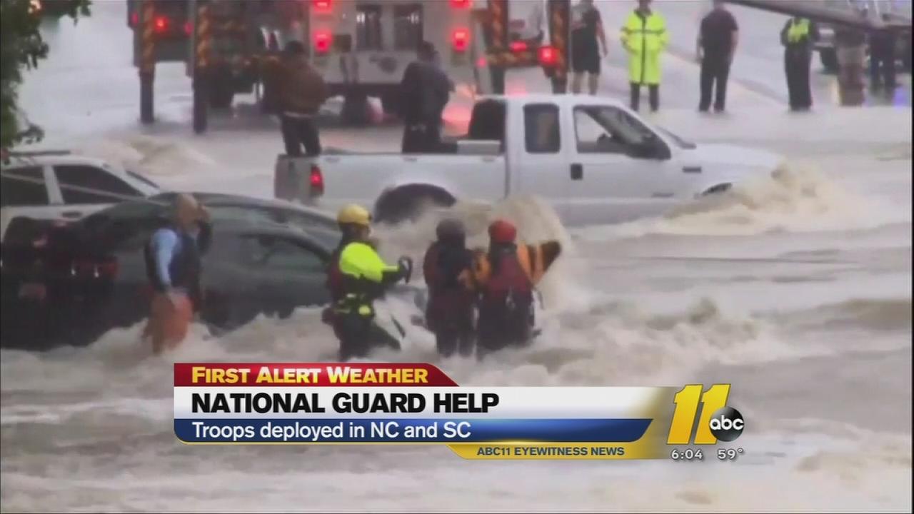 Catastrophic flooding throughout South Carolina