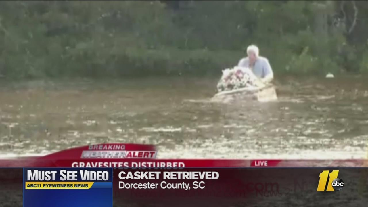 Must-see video: Caskets retrieved after flooding