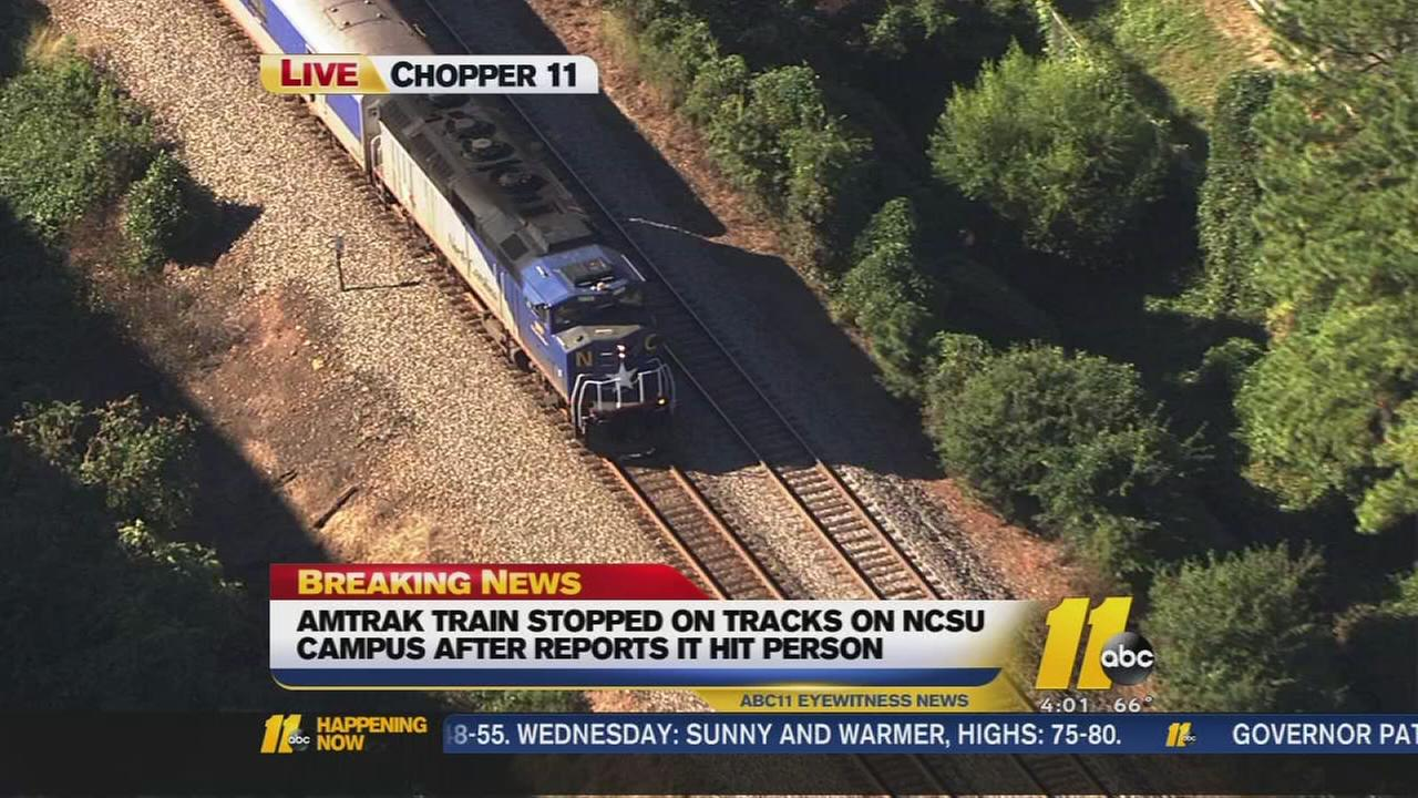 Person hit by train in Raleigh