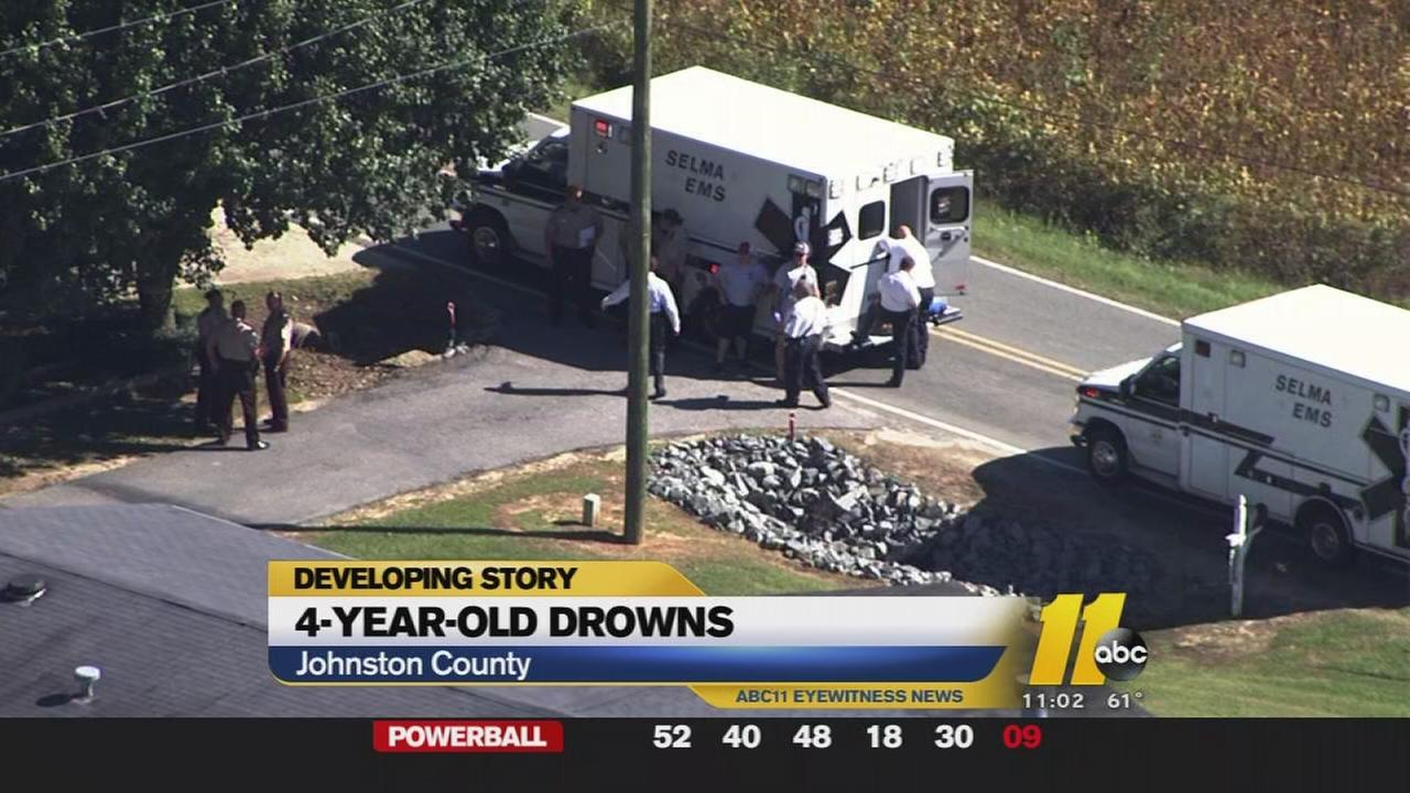 Child drowns in Johnston County