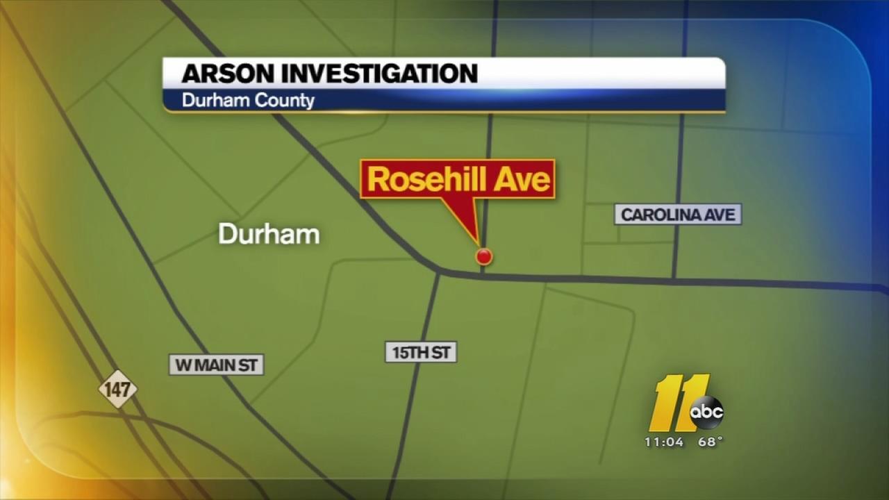 Arson investigation in Durham