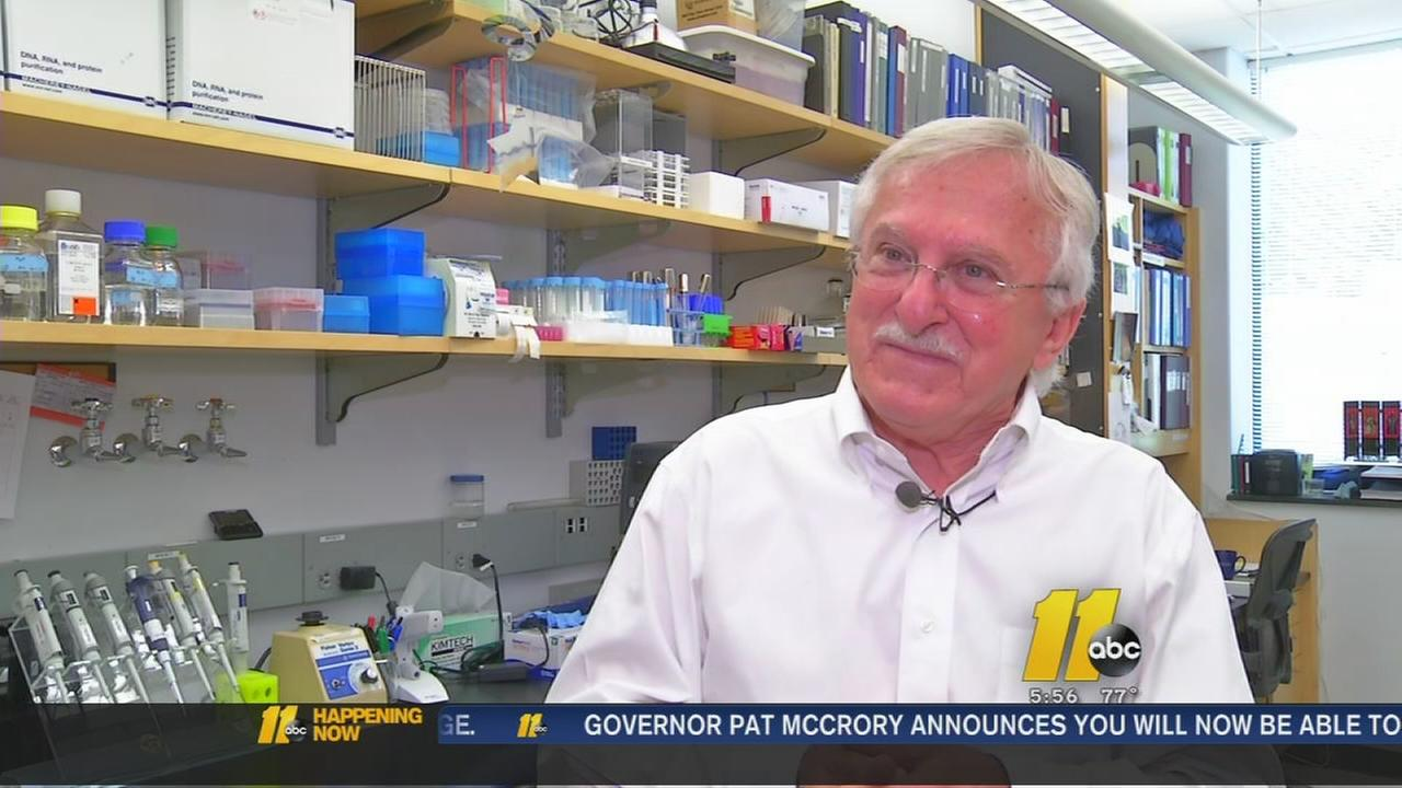 Duke University professor returns to lab after winning Nobel Prize