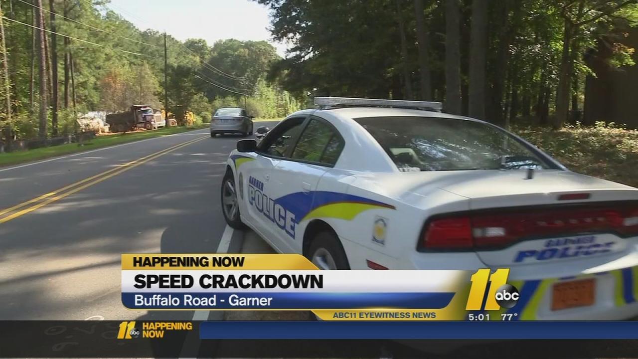 Speed crackdown