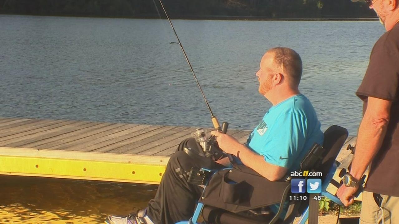 Wounded vet can fish thanks to special rod and reel