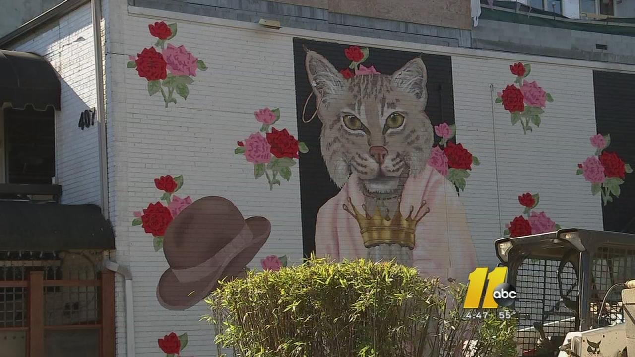 Murals cropping up in Raleigh