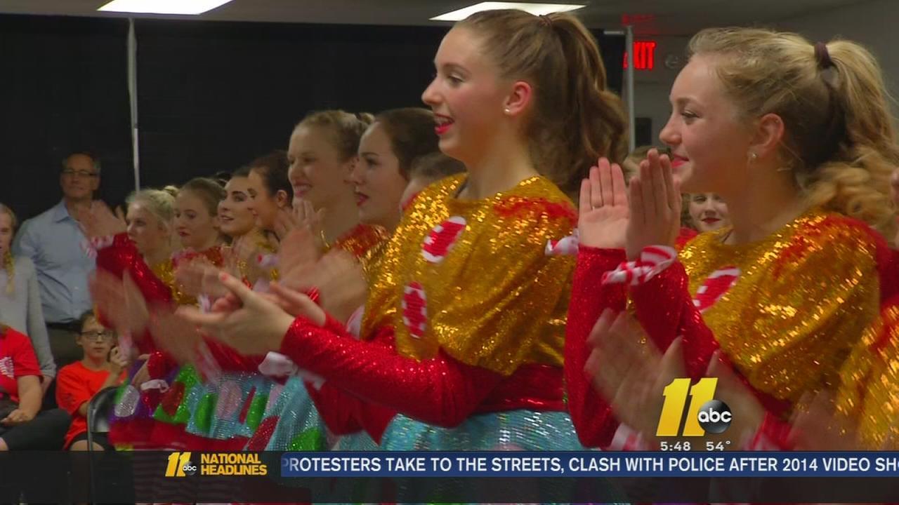Dancers performing at Macys Parade