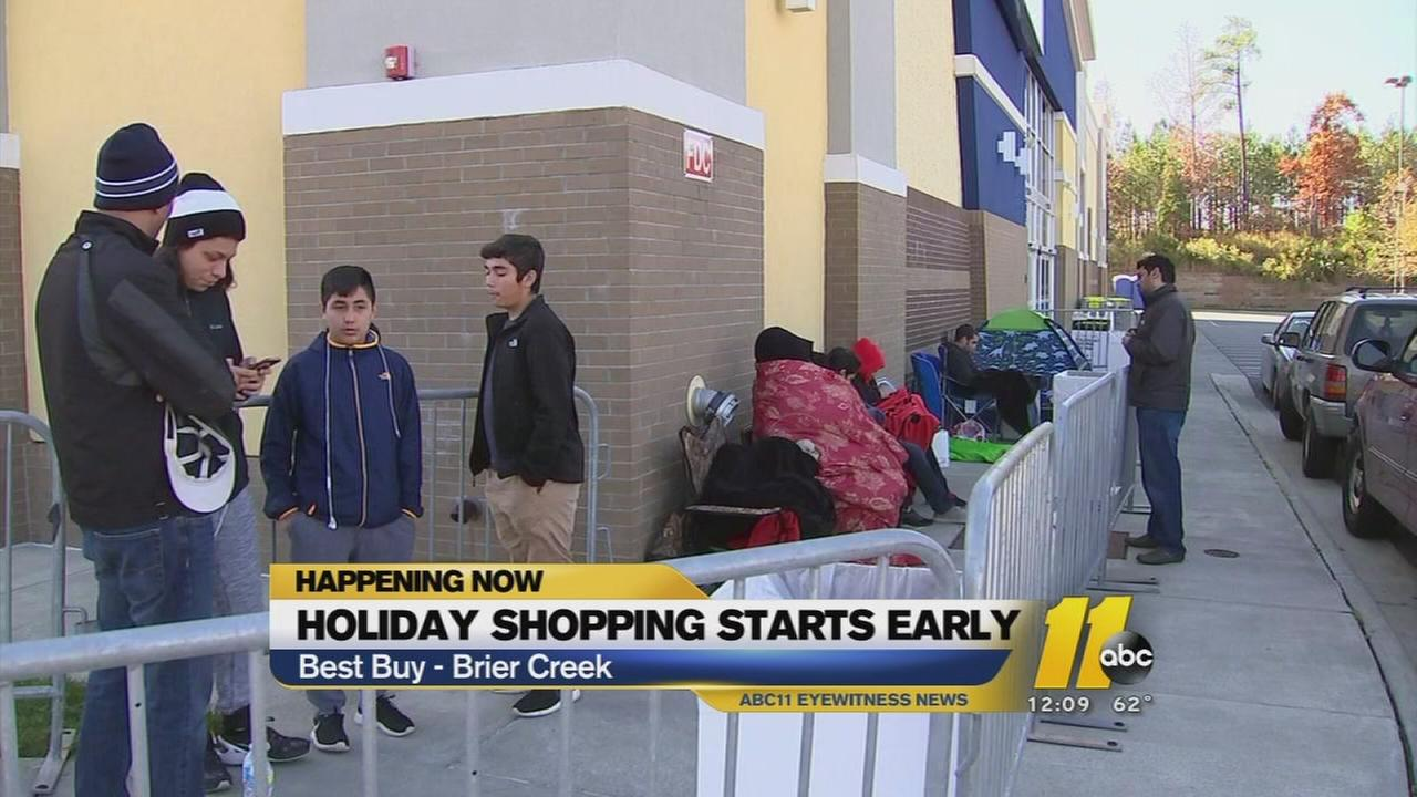 Customers camp out ahead of shopping deals!
