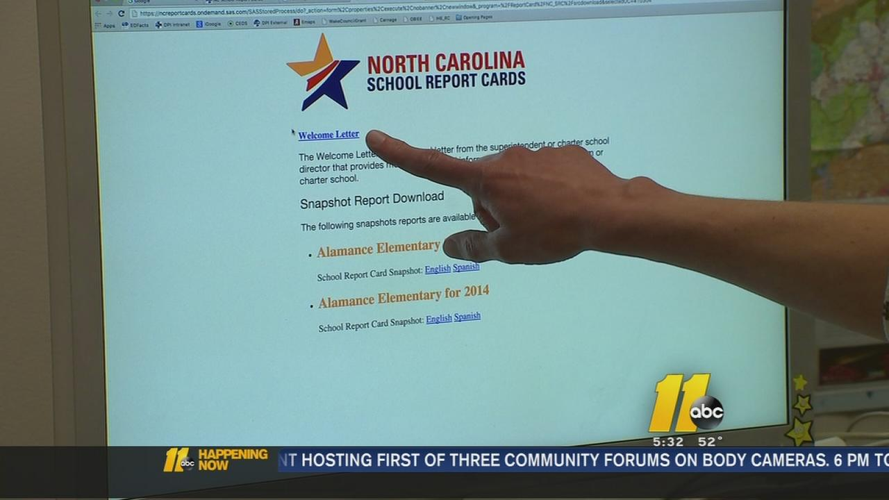 North Carolina school report cards released