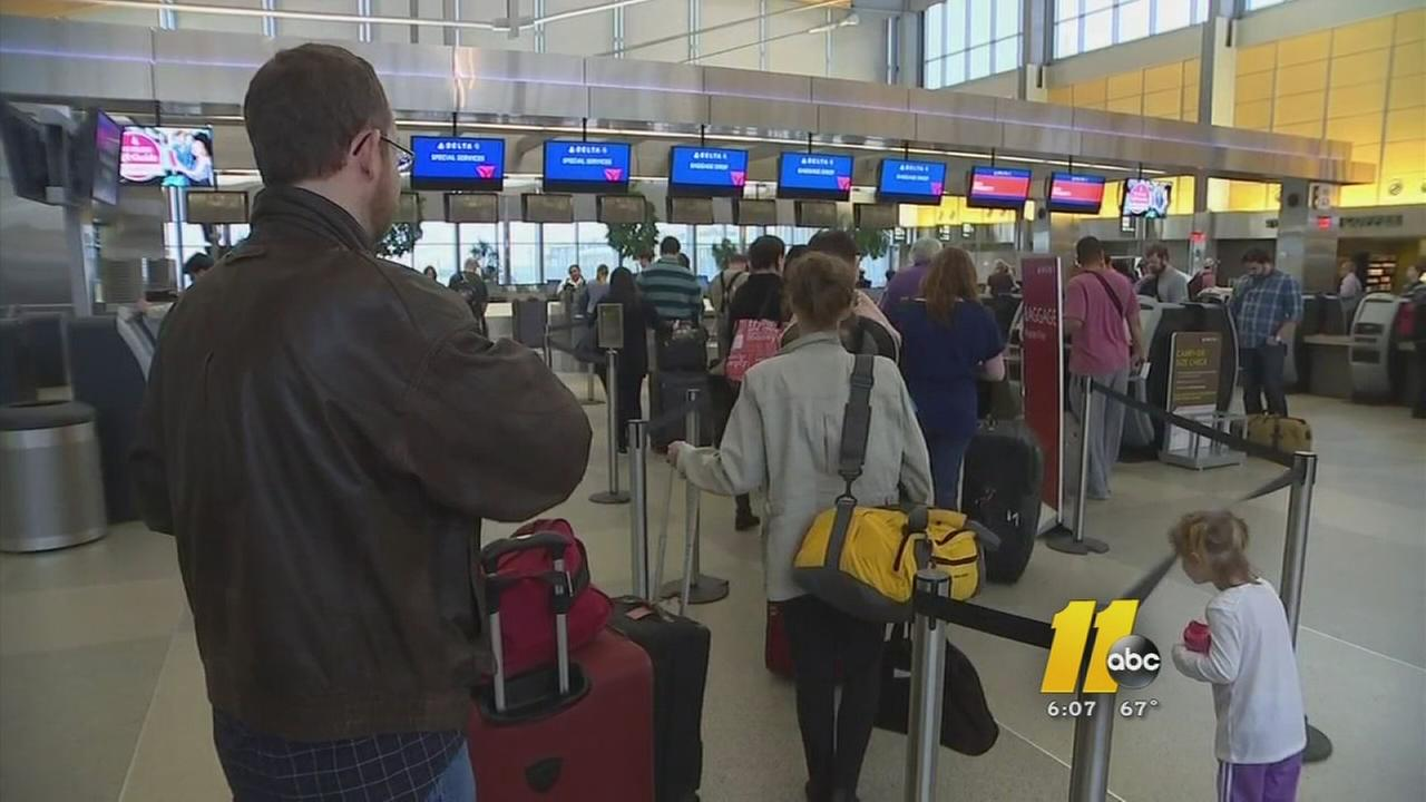 RDU packed for holiday travel