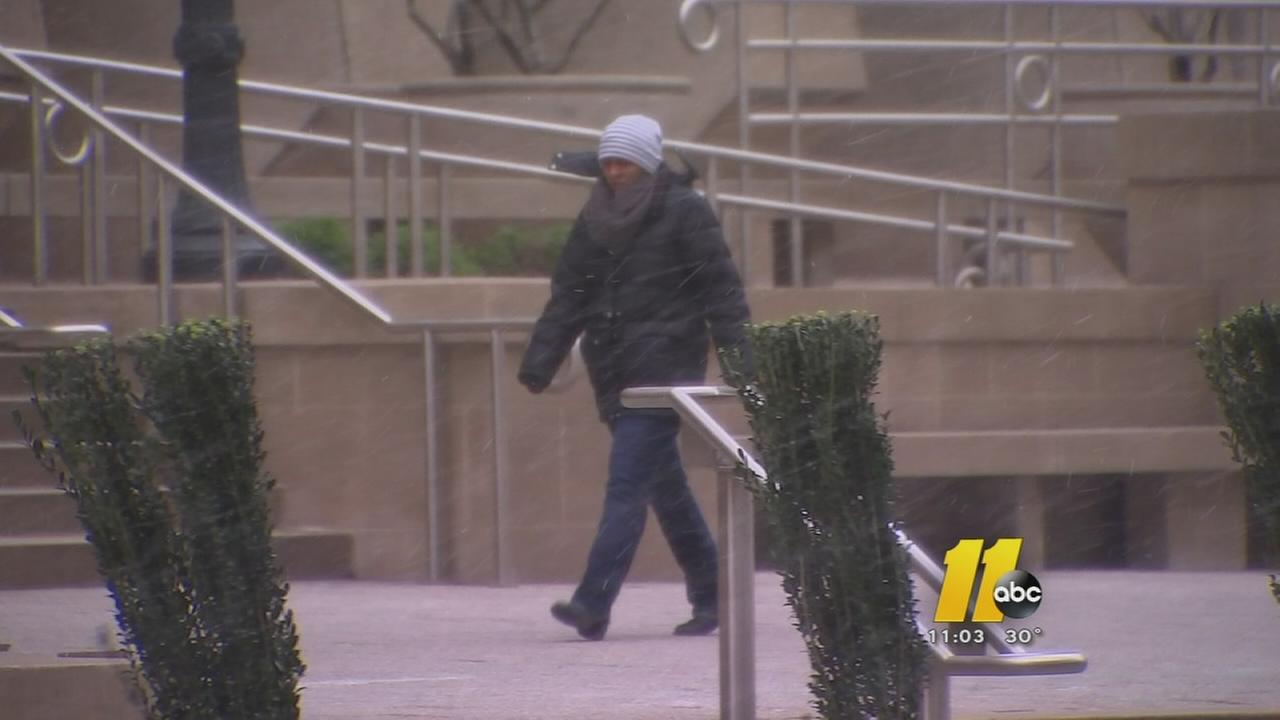 Cold comes to Triangle