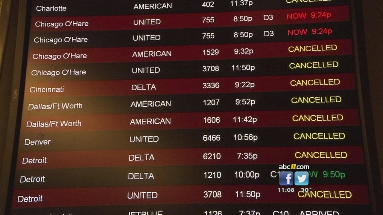 Airport travel affected