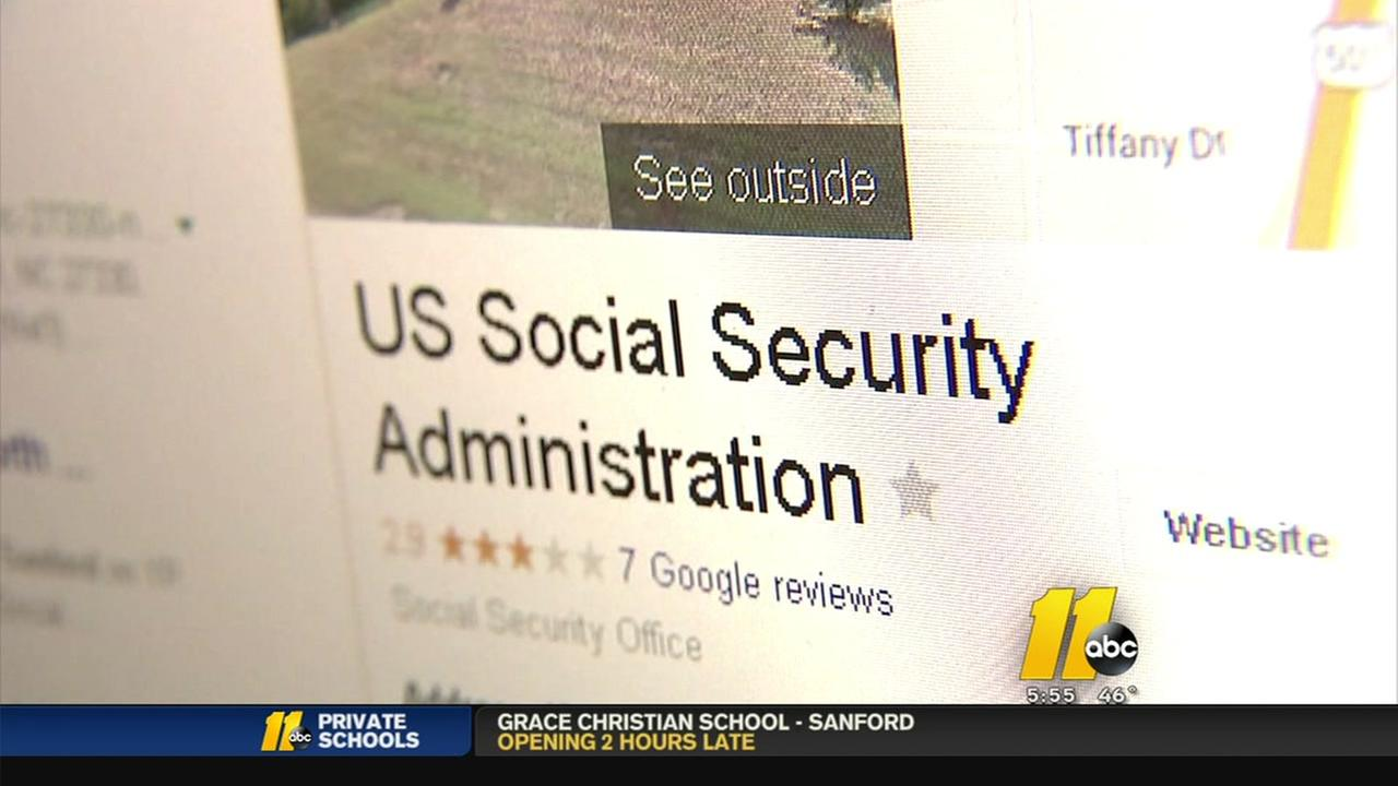 Personal number listed as Sandford Social Security