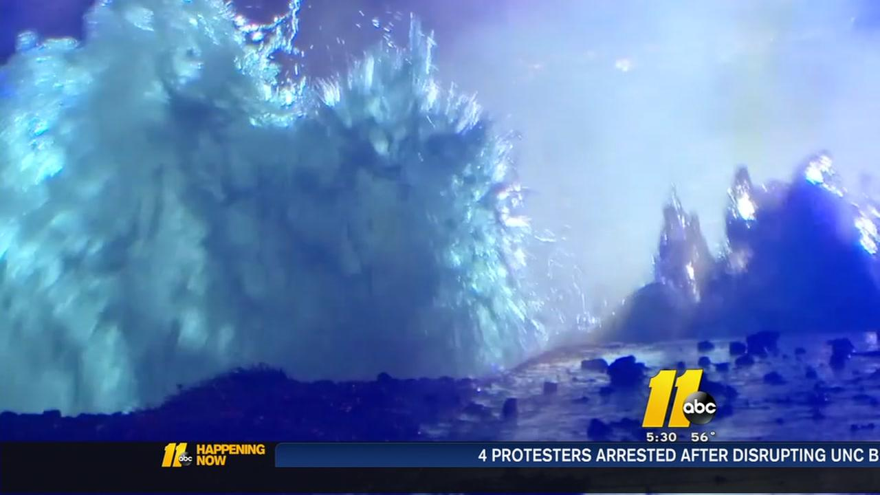 Water main break on Highway 98 in Wake Forest Tuesday