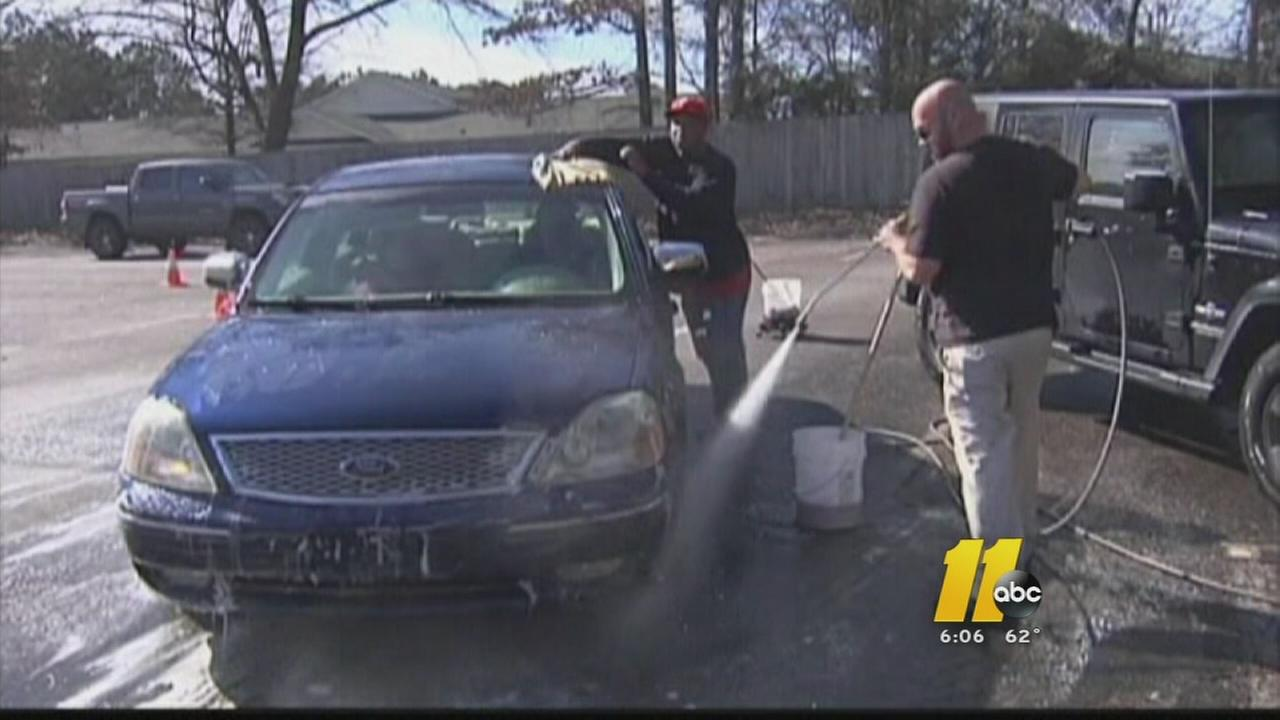Car wash for Raleigh woman