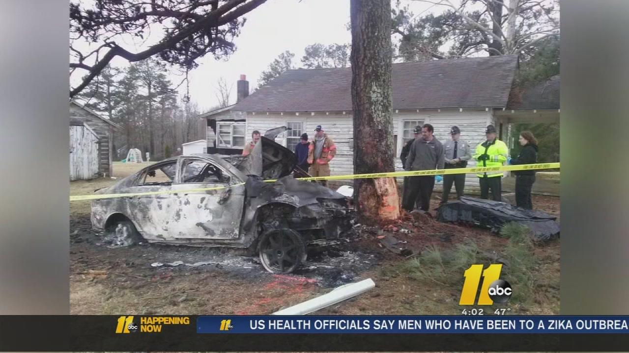 Driver killed in fiery crash