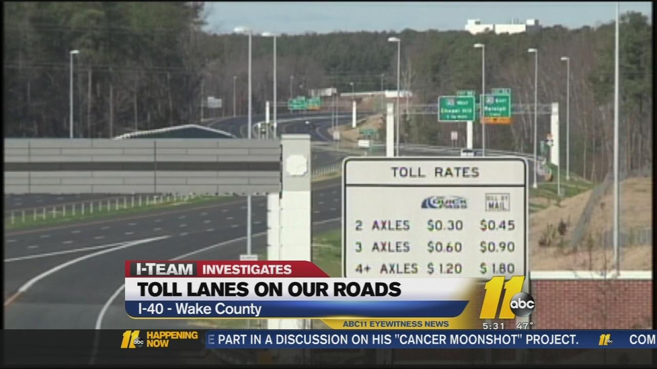 Tolls roads in NC