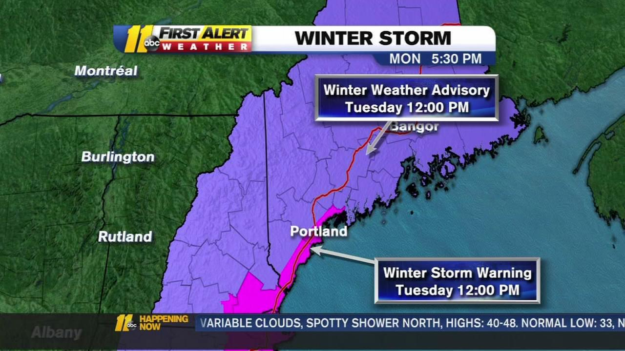 Snow predicted for New Hampshire ahead on primary