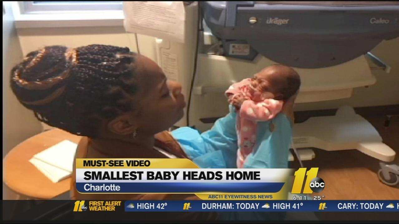 Smallest NC baby heads home