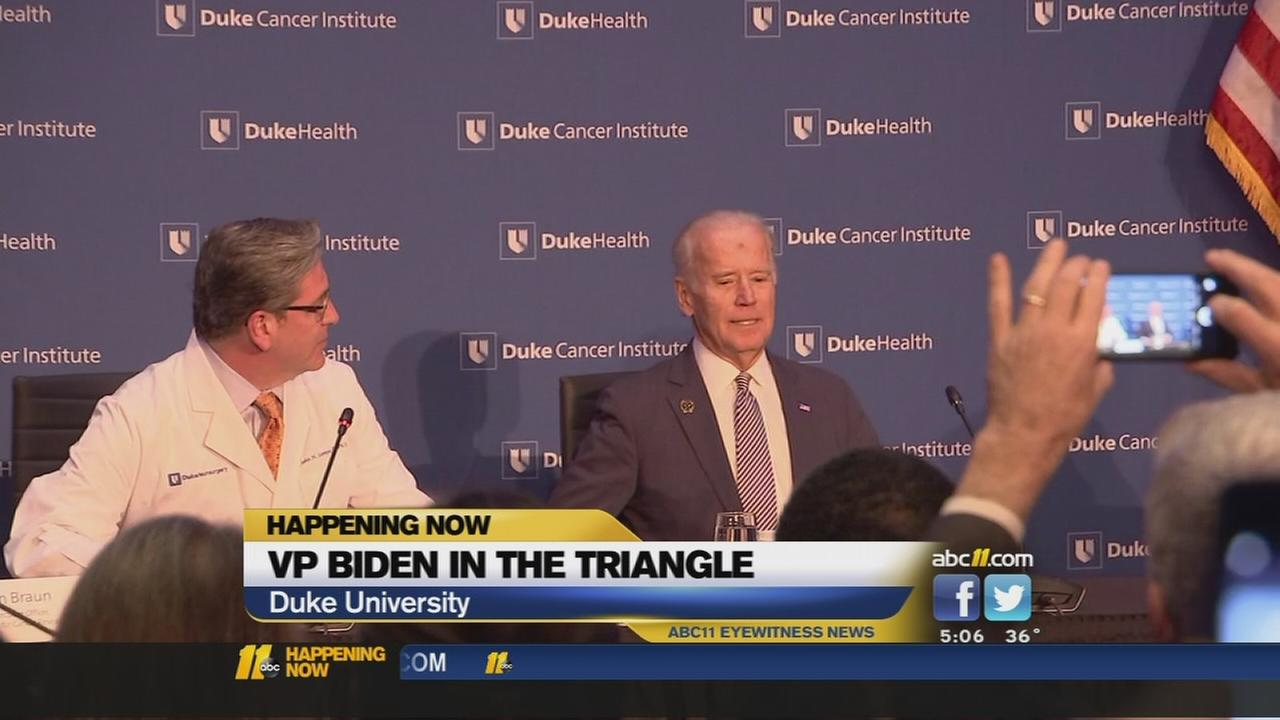 VP Biden in the Triangle