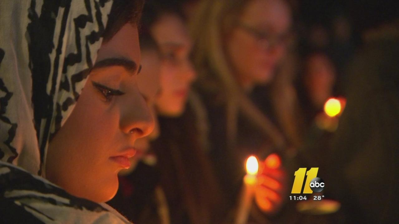 Vigil for 3 students