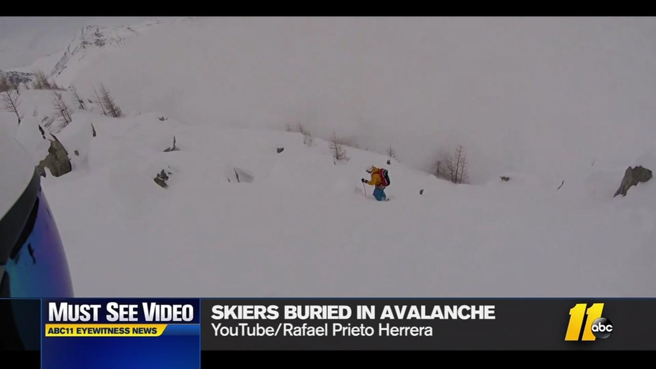 Avalanche buries men